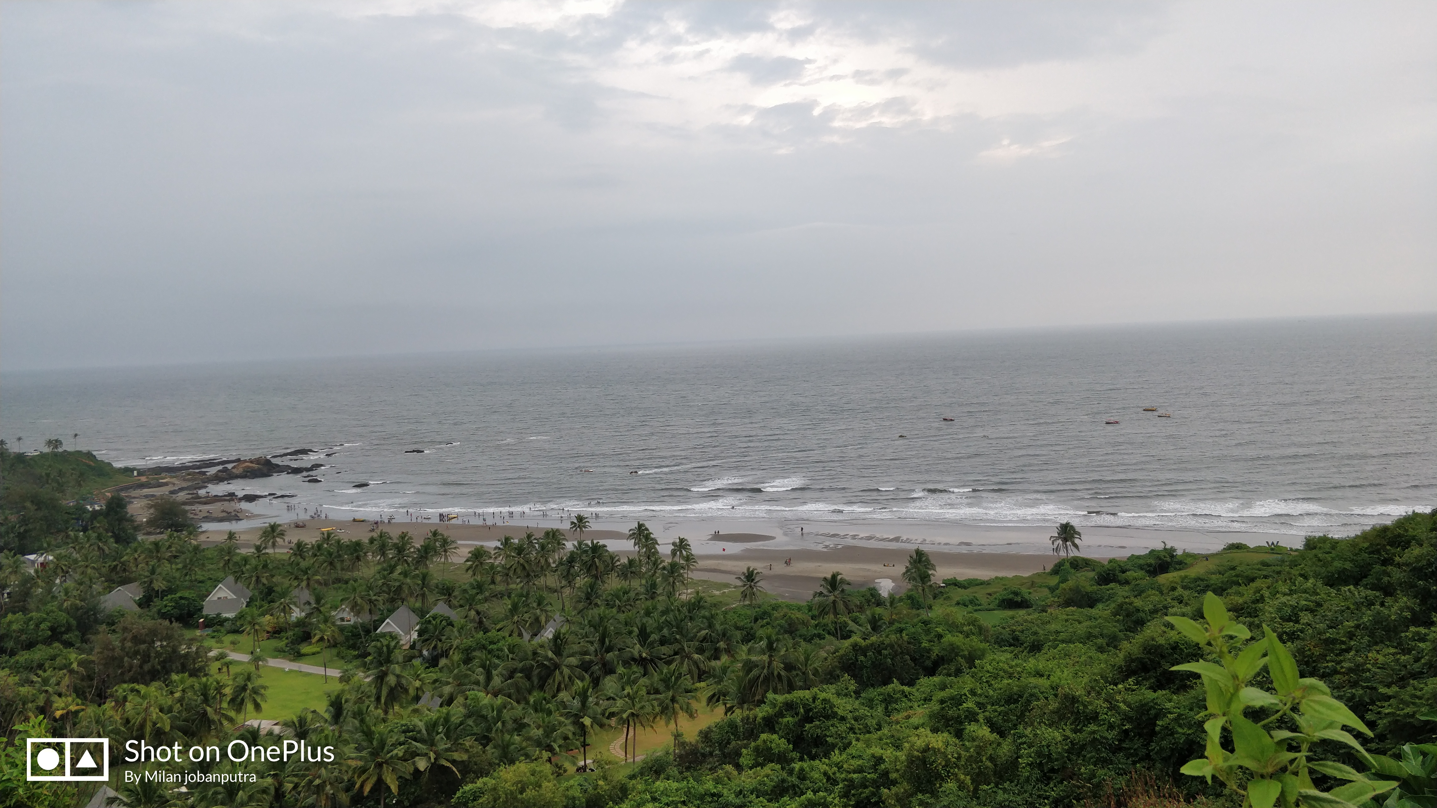Vagator Beach View From Chapora Fort